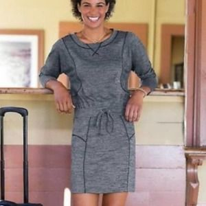 ATHLETA Give it Your All Dress Gray Heathered XS